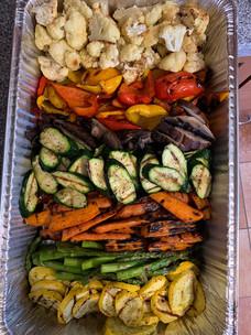 seasonal grilled vegetables