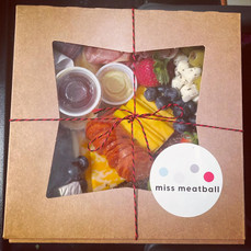 small charcuterie packaged and ready to be delivered!