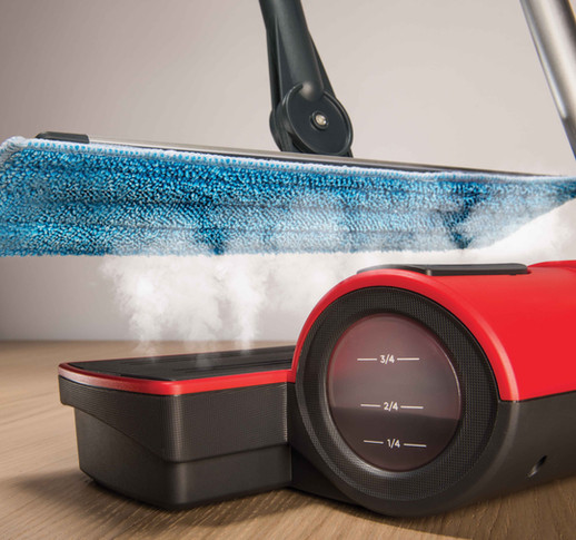 Moppy Red - Sanitizes using natural high temperature steam without chemicals