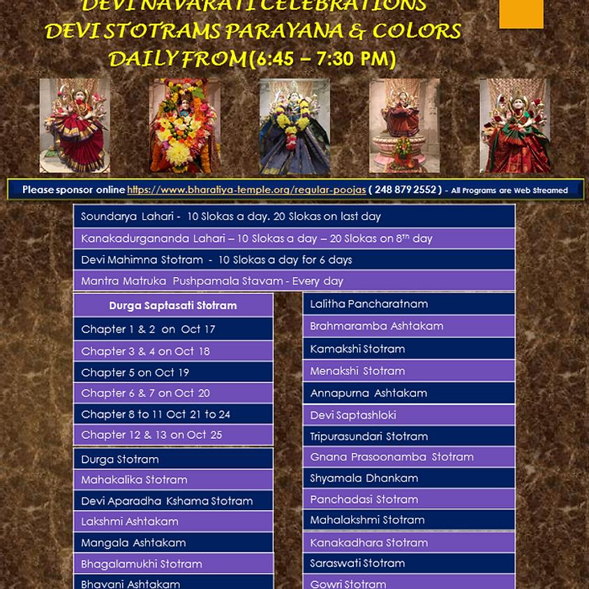 Devi Stotram Parayana