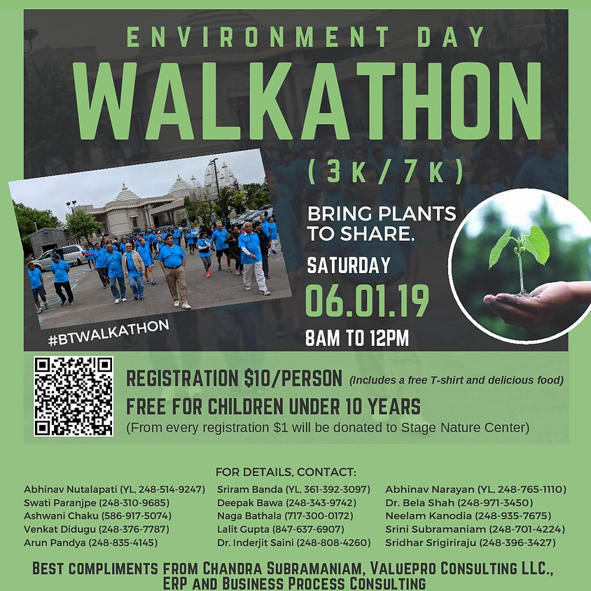Environment Day Walkathon - Stage Nature Center, Troy