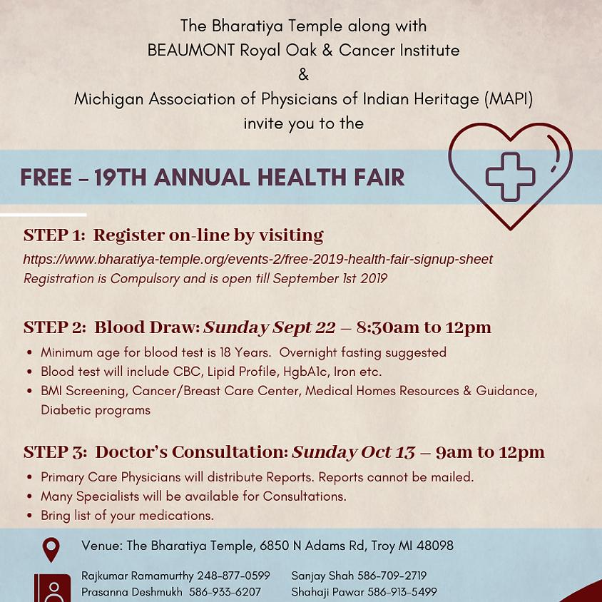 Free 2019 Health Fair - Signup Sheet
