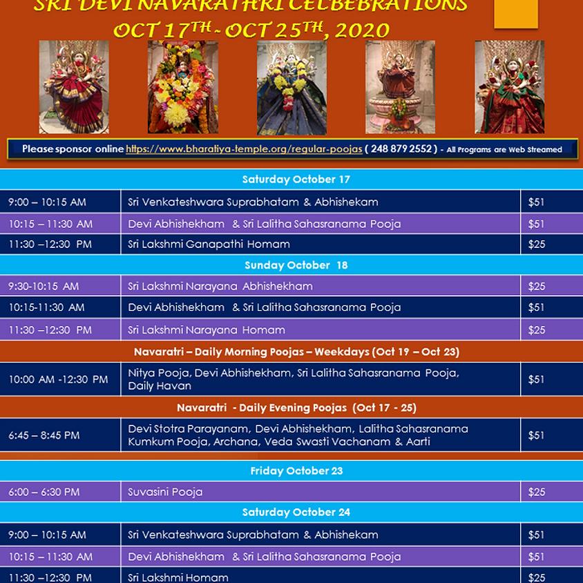 Devi Navarathri Celebrations
