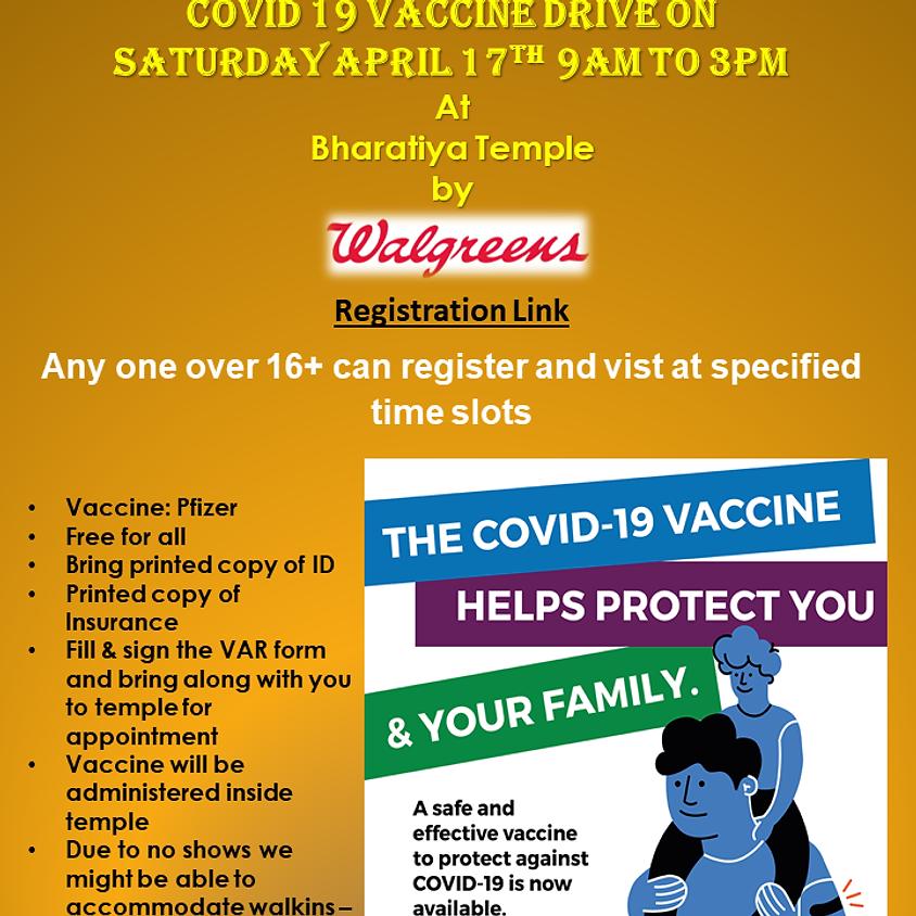 COVID 19 Vaccine Drive Visitor Registration