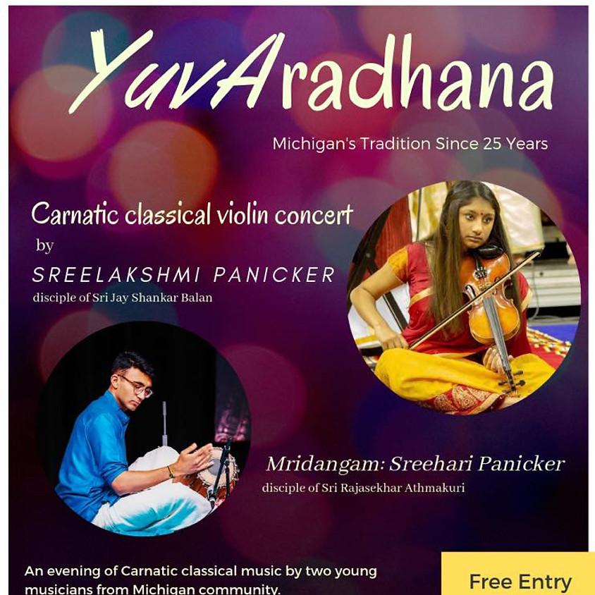 Yuv Aradhana : Carnatic Classical Violin Concert by Lakshmi Panicker