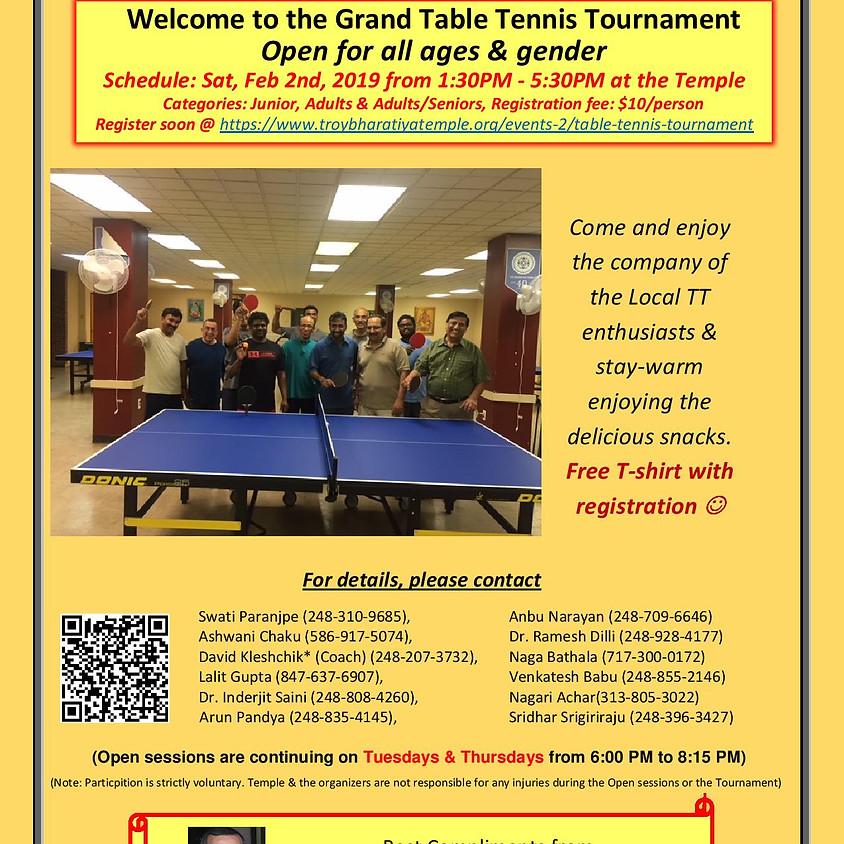 Table Tennis Tournament - Test
