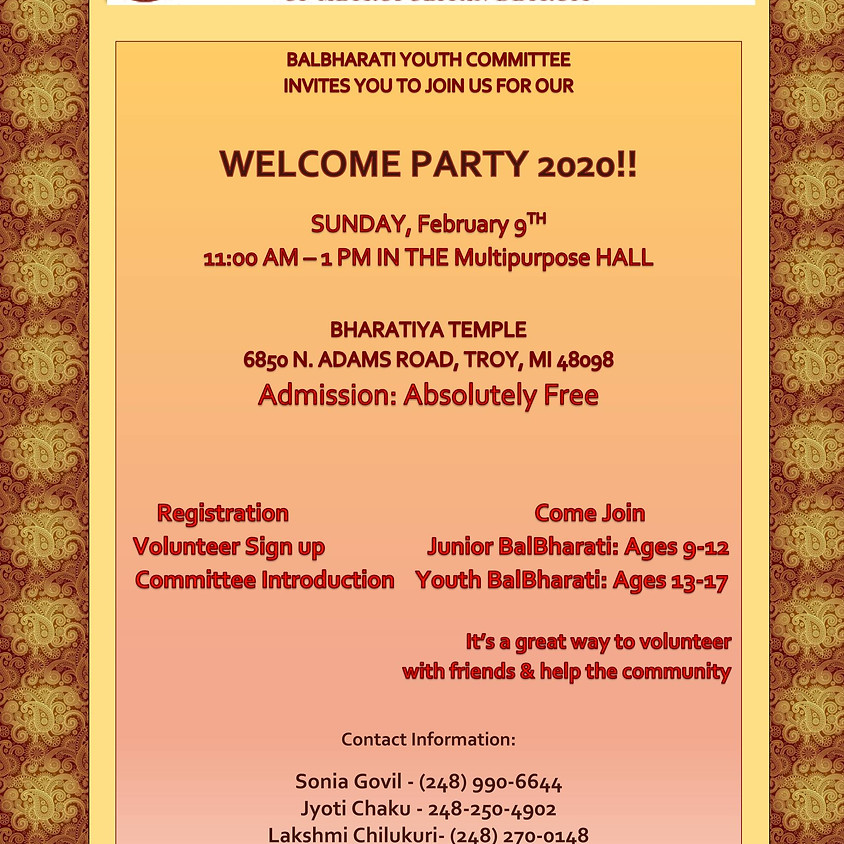 Balbharathi Welcome Party 2020