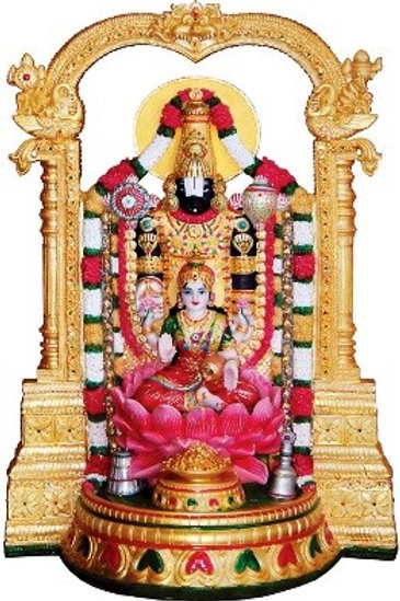 "25.0"" Balaji Lakshmi - Fountain with Light"