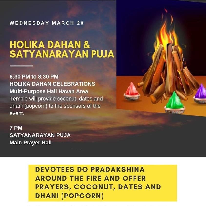 Holika Dahan and Satyanarayana Puja
