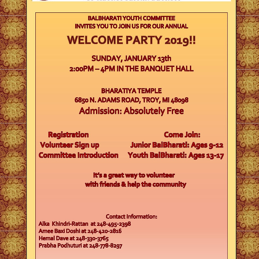 Balbharathi Welcome Party