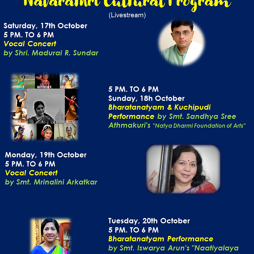 Navarathri Cultural Programs