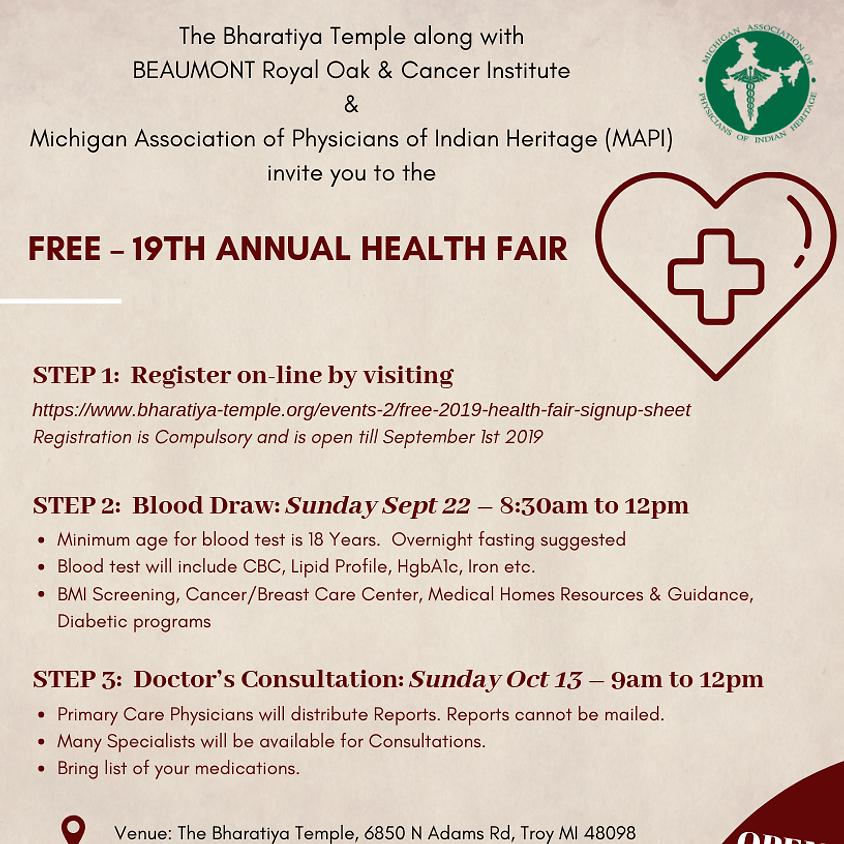 Free 2019 Health Fair