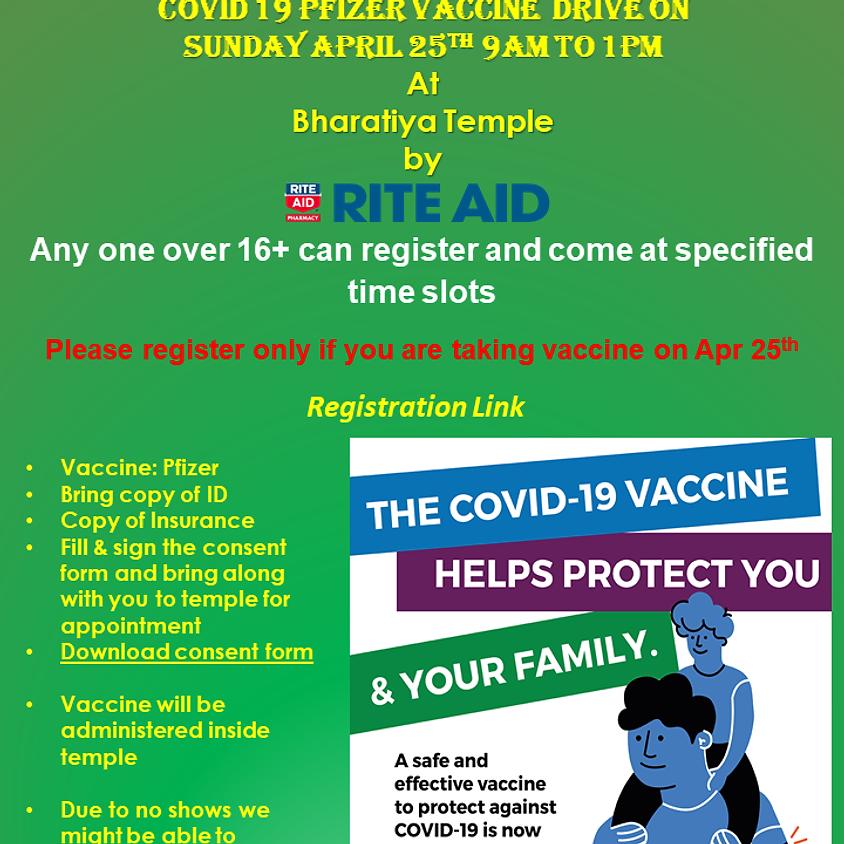 RITEAID Pfizer Vaccine Visitor Registration