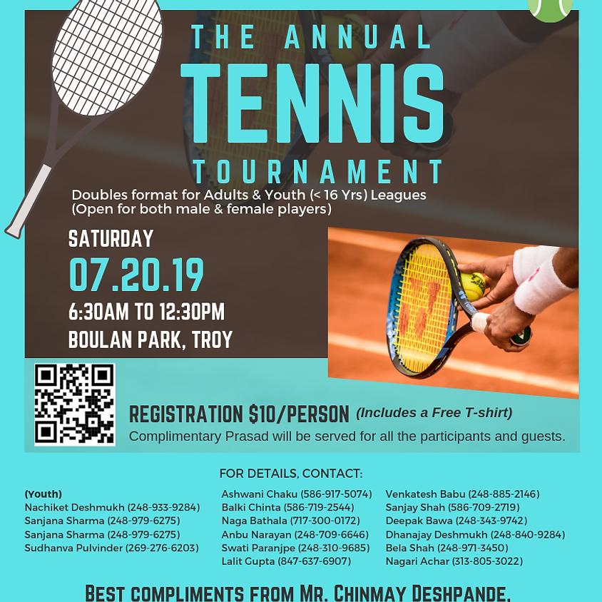 Tennis Tournament - Male & Female participation(SCP)