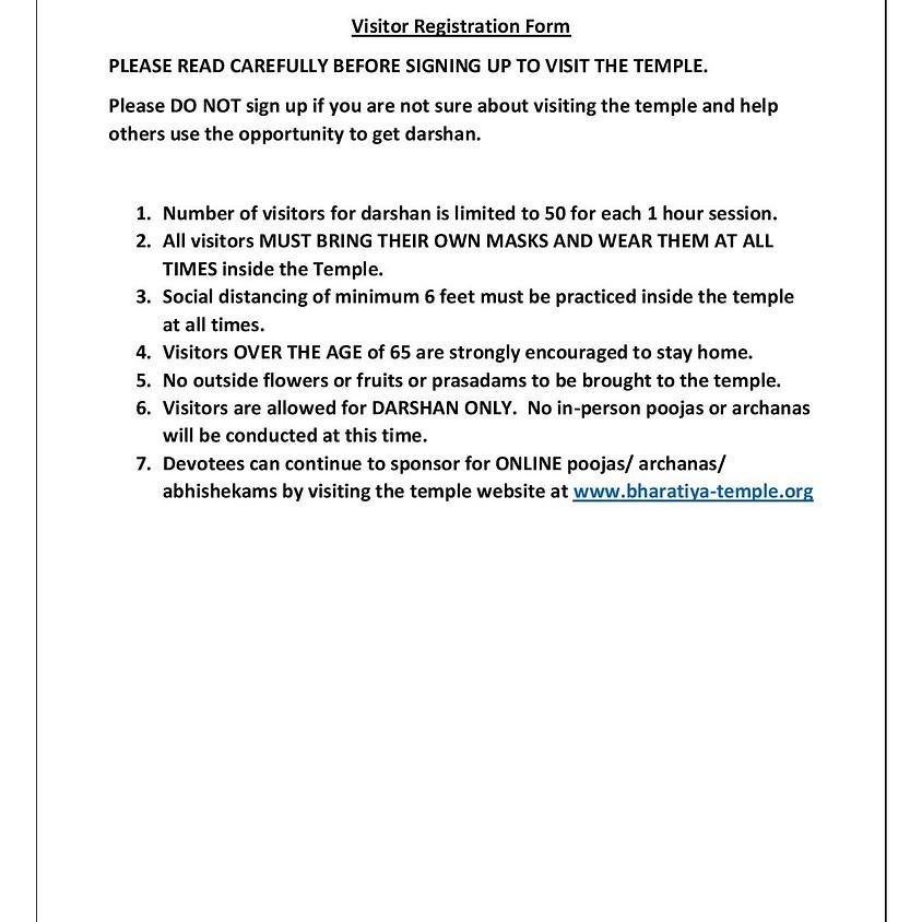 Visitor Registration & Health Screening Questions