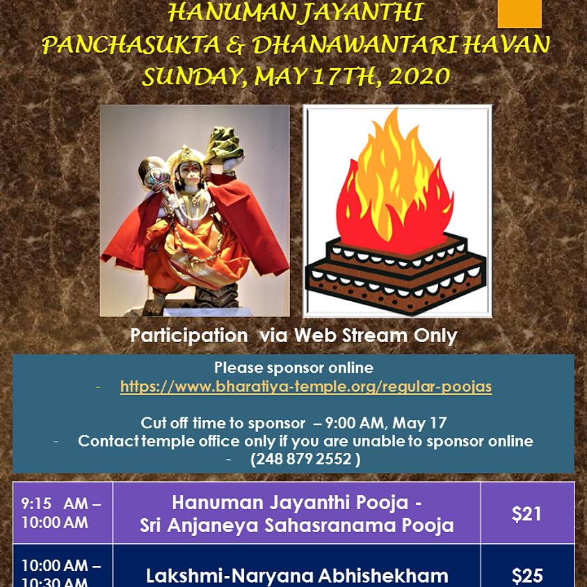 Hanuman Jayanthi & Panchasukta Dhanvantari Havan