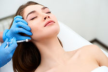 Beautician doctor with filler syringe ma