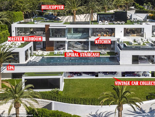 The most expensive home ever listed in the United States has just hit the market in Bel Air, Los Ang