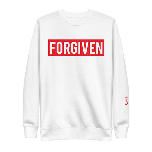 FORGIVEN • RED • Unisex Fleece Pullover