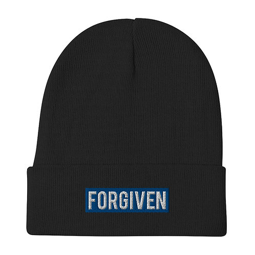 FORGIVEN • Royal • Embroidered Beanie