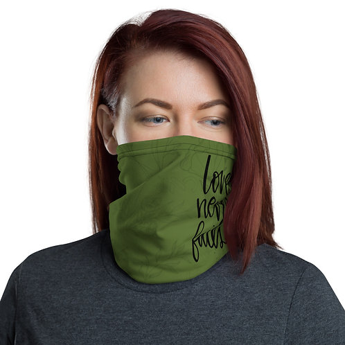 Love Never Fails • Olive • Neck Gaiter