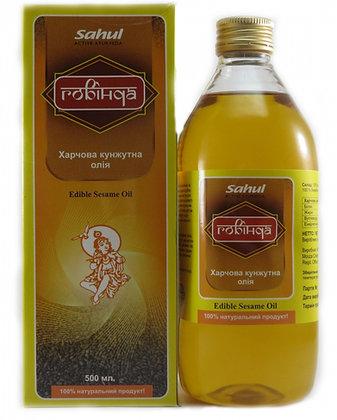 Кунжутное масло холодного отжима 500 мл. (Индия)