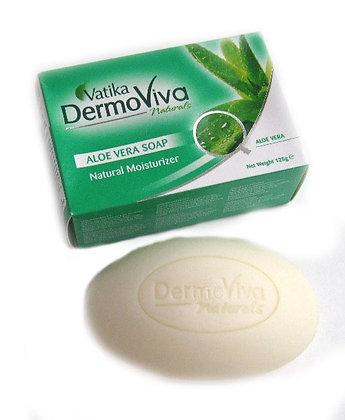 Мыло для всех типов кожи с Алоэ вера Vatika DermoViva 125 г.