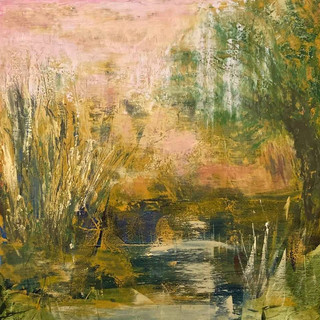 """Sold The Creek 12""""x12""""Oil and Cold Wax 12x12.jpg"""