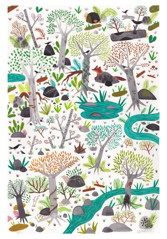 Forest Wedding Illustration