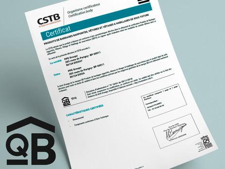 PPE GROUPE certifié QB15 pour les panneaux de bardage