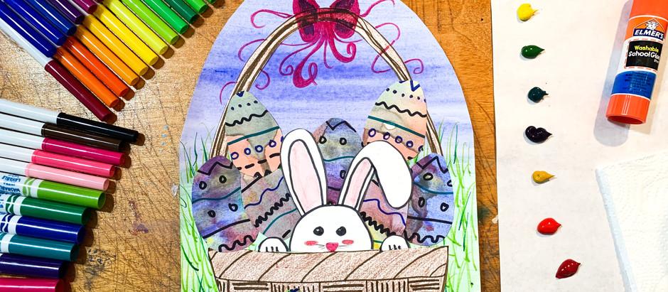 Easter Bunny Basket - Art Tutorial