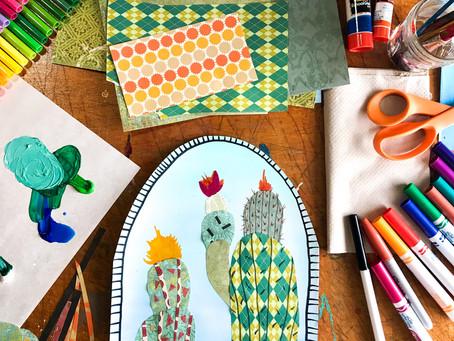 Cactus Collage - Art Tutorial