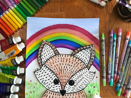 Spring Fox - Art Project Tutorial