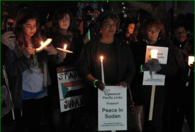 Vigil for Peace in Sudan