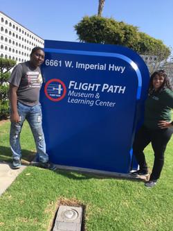 Jalen-Rhonda Flight Path sign