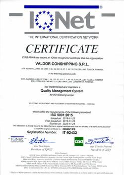 RINA ISO 9001:2015 - QMS CERTICATE