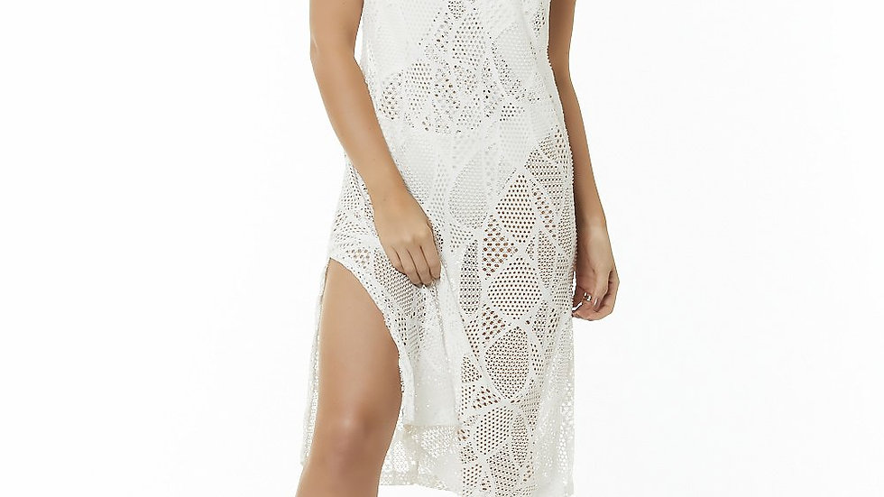 White Sheer Cover Up Dress - Charlotte