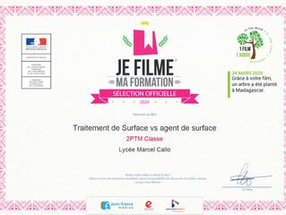 Sélection Officielle au concours 2020 : JE FILME MA FORMATION