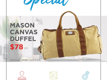 Weekly Special - Beacon - Mason Canvas Duffel