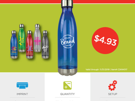 Weekly Special ~ Tritan Bottle ~ Valid through: 11.30.19