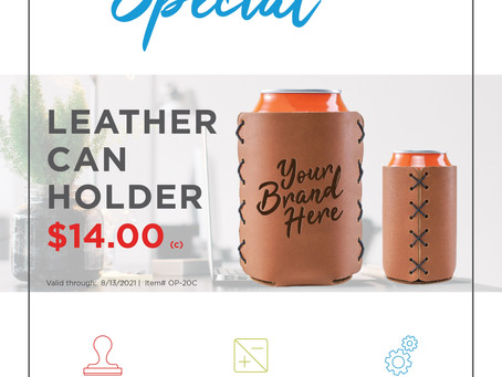 Weekly Special - Oowee Products - Leather Can Holder