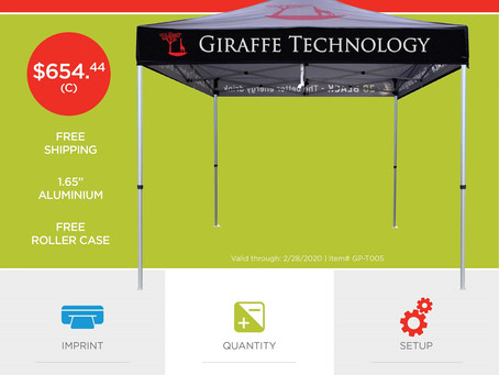 Weekly Special ~ Pop up Tent