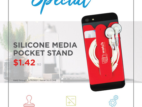 Weekly Special ~ Silicone Media Pocket Stand