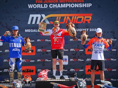 Hakon Osterhagen and Fantic are 125cc World Champs.