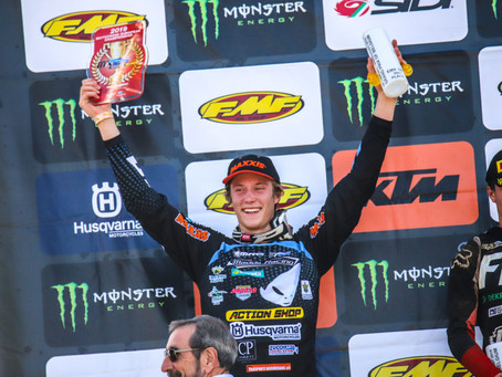 THE RIDERS OF TEAM MADDII RACING HUSQVARNA AWARD THE SECOND AND FOURTH PLACE IN LOMMEL