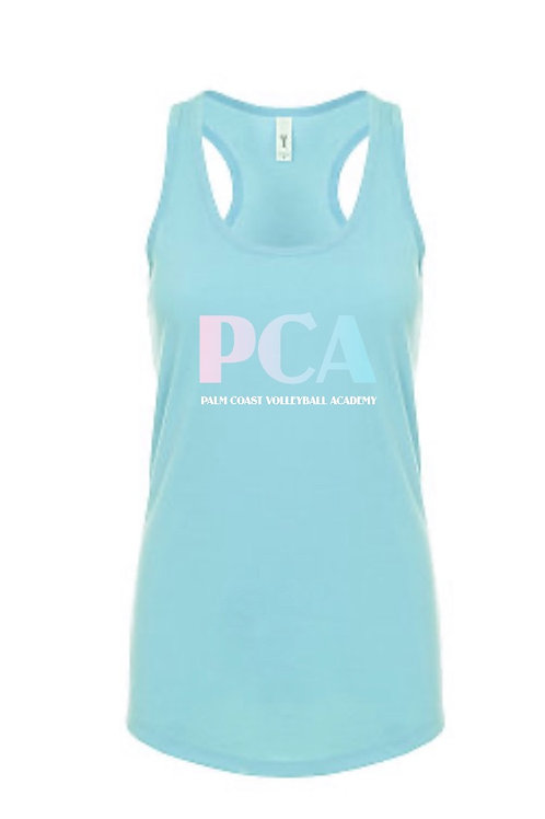 PCA Womens Aqua Racerback Tank