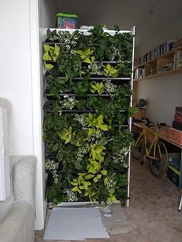Interieur groengevel
