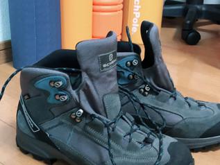 登山ヨガと登山靴!