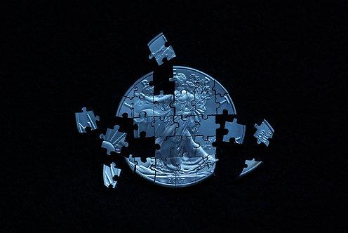 American Eagle Puzzle (30 Pieces) - 1oz .999 Silver