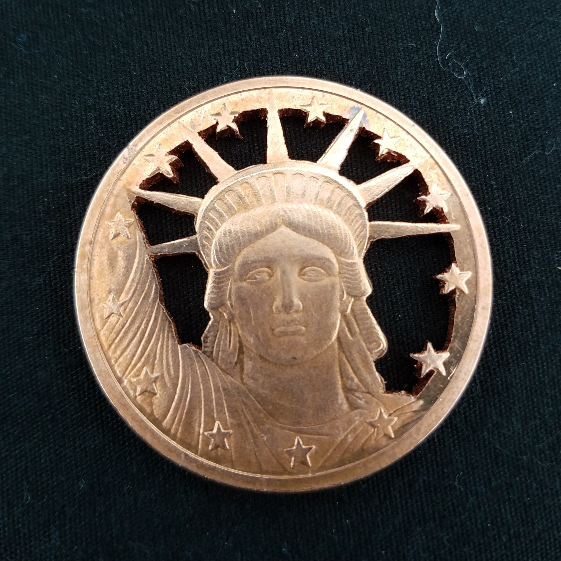 Copper Lady Liberty